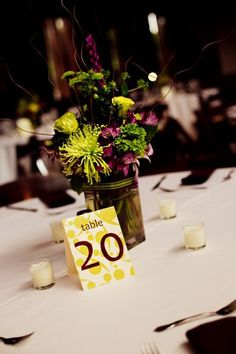 Table Numbers  Wedding Reception Photos on WeddingWire