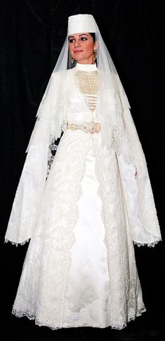 Traditional circassian bridal dress