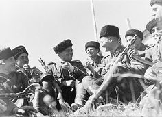 "TRAITORS OF THEIR COUNTRY. A group of Cossacks, voluntarily referred by the service and the Führer of Germany. The USSR. 1942""... In Crimea to the Red Army were 90 thousand. persons, including 20th. the Crimean Tatars. almost all of the 20th. Crimean Tatars deserted in 1941 year from 51 army retreat from Crimea. "" Joseph Stalin."
