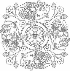 Nature Mandalas Coloring Pages