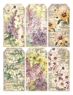 "Springtime Gift Tags ""I love Spring anywhere, but if I could choose, I would always greet it in a garden."" ~ Ruth Stout ~"