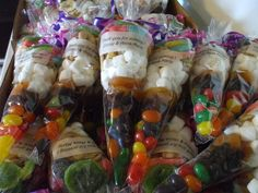 Two mini party cones -- one fruit and one candy -- and a $10 discount off an order of party cones. Donated by Chris of Party Cones. https://www.facebook.com/PartyCones
