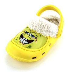 Spongebob Boys Yellow Fleece Lined Clogs (S (5/6 M US Toddler)) Nickelodeon http://www.amazon.com/dp/B00NP0K7BE/ref=cm_sw_r_pi_dp_2eRgvb0KA15Q5