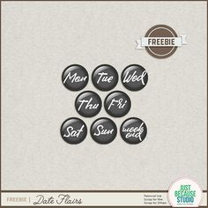 Quality DigiScrap Freebies: Date Flairs freebie from Just Because Studio