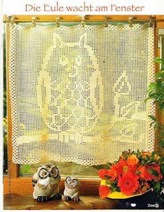 Gardine häkeln - cortinas crochet curtain Szydełkomania filete