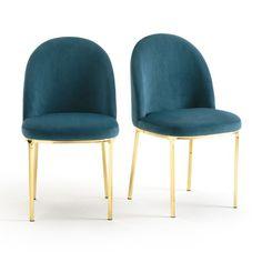 Vintage stoel in fluweel (set van 2) TOPIM  La Redoute Interieurs 2 stoelen in fluweel Topim : comfortabel en ergonomisch, ze halen hun inspiratie uit de vintage en couture registers. Eigenschappen 2 stoelen in...