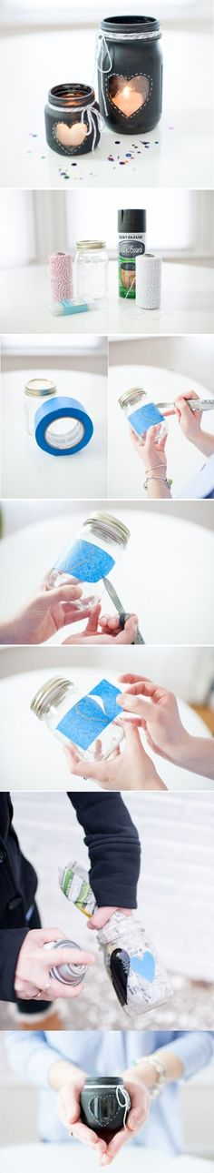 DIY Lovely Manson Jar Candle