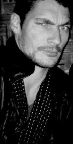 Supermodel David Gandy being adorable