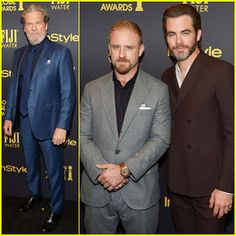 Chris Pine Reunites With 'Hell or High Water' Co-Stars At 2017 Golden Globe Awards Season Celebration!