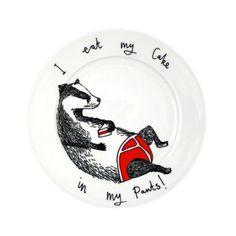 Jimbob Art: 'Eat my Cake in my Pants' Side Plate