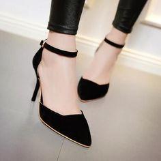 b34a5b79cc1c32 Spitze Zehensandalen Damen Pumps Spike Stiletto Schuhe mit hohen Absätzen  Frau
