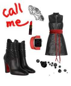 """""""Call me boy"""" by alena-no-te-importa on Polyvore featuring Christian Louboutin, Marc by Marc Jacobs, Mafalda von Hessen, Hermès y Stephen Webster"""