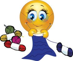 This cute smiley is getting her knitting on and she's not ashamed. Animated Smiley Faces, Funny Emoji Faces, Emoticon Faces, Hug Emoticon, Facebook Emoticons, Funny Emoticons, Animated Emoticons, Smiley Emoji, Images Emoji