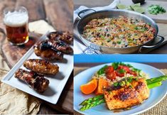 Whether you enjoy your chicken oven-fried, skewered or curried, here are 18 delicious and surprisingly easy chicken recipes. Wings Slow Cooker, Slow Cooker Chicken Rice, Pressure Cooker Pork, Oven Chicken, How To Cook Chicken, Chicken Wings, Chicken Meals, Chicken Recipes Healthy Oven, Gourmet Chicken