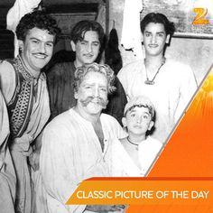 with Prithvi Raj Kapoor, Shammi Kapoor and Shashi Kapoor