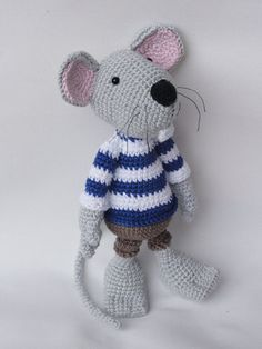 Rumini the Mouse Amigurumi Crochet Pattern by IlDikko on Etsy