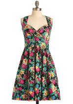 Pretty, pretty floral print dress. Garden Gorgeous Dress from ModCloth $92.99