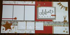 CTMH Oh Deer! and Rustic Fundamentals layout by Char`s Crafty Creations. Title is a Flip Flap.