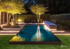 49 Creative Narrow Pools For The Tightest Spaces Ideas Many love to have a pool at home because it helps them relax. It is also an ideal place to … Swimming Pool Lights, Swiming Pool, Swimming Pools Backyard, Swimming Pool Designs, Pool Spa, Backyard Pool Landscaping, Small Backyard Pools, Backyard Pool Designs, Outdoor Pool