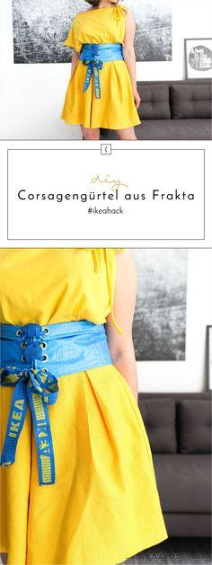 IKEA Hack: DIY Corsagengürtel / Taillengürtel aus FRAKTA Tragetasche nähen #ikeahack