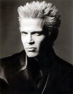 Billy Idol (born as William Michael Albert Broad, 1955) - English rock musician. Photo by Greg Gorman, 1988