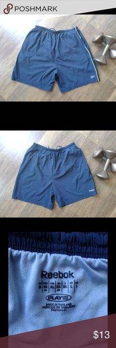 👀 Reebok Drawstring Running Athletic  Shorts 👟 Reebok athletic running shorts. Size Large. No damages. 🙂 TY for looking! **Don't have an account? Use code GYGCH & get $5 FREE to use ANYWHERE on Poshmark! 🤑 Get Your Good Coin Honey (GYGCH) & happy shopping! Reebok Shorts