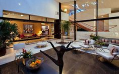 Sidney and Frances Brody commissioned noted mid-century modern architect A. Quincy Jones to design their Los Angeles home in 1949. Spacious with an abundance of Art to admire and to live with. Nice.