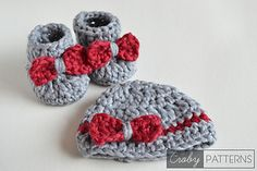 Ravelry: Baby Booties and Beanie - SO FLUFFY pattern by Croby Patterns
