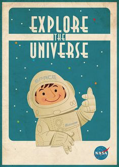 Hey, I found this really awesome Etsy listing at https://www.etsy.com/listing/161435051/vintage-space-poster-astronaut