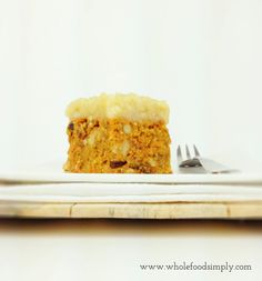 Simple and delicious Carrot Cake. Free from gluten, grains, dairy, egg and refined sugar. Enjoy.