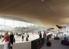 Proposal for public library in Helsinki by ALA Architects // visualisation, very nice looking project!