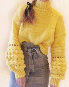 57 Women's Sweaters To Look Cool - Fashion New Trends - 57 Women's Sweaters To Look Cool outfit fashion casualoutfit fashiontrends Best Picture For outf - Knitwear Fashion, Knit Fashion, Sweater Fashion, Mode Outfits, Casual Outfits, Fashion Outfits, Mode Crochet, Knit Crochet, Knitting Designs