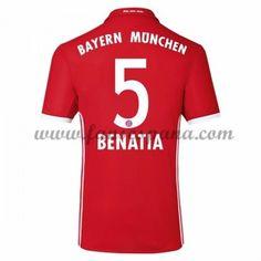 Camisetas De Futbol Bayern Munich Benatia 5 Primera Equipación 2016-17