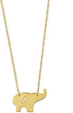 "Moon and Lola Nala Elephant Initial Pendant Necklace, Gold, 16""L https://api.shopstyle.com/action/apiVisitRetailer?id=463743678&pid=uid6400-33961420-65"