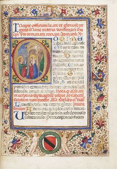 Book of Hours, use of Rome, Initial D with the Annunciation, ca. 1490, Italy, Naples