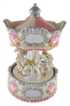 Wurlitzer Carousel Horse Music Box | Traditional-Windup-HORSE-MUSICAL-CAROUSEL-MUSIC-BOX-6-5-Tall-Ornament ...