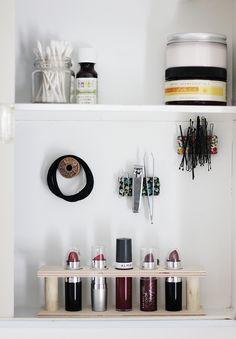 DIY Wooden Lipstick Holder @themerrythought
