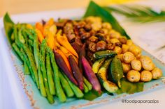 A colorful display of grilled veggies is a wonderful family style or food station offering.so many varieties! Delicious Catering, Veggie Platters, Food Stations, Grilled Vegetables, Wedding Catering, Gourmet Recipes, Great Recipes, Roast, Food And Drink