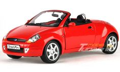 Ford Street KA Red - The Ford Ka is a city car manufactured by the Ford Motor Company from 1996 to present. It entered its second generation in 2008, and is produced by Fiat in Tychy, Poland.[1][2][3] In both generations it has a three-door hatchback body style, with the first generation also having a three-door convertible version that was marketed as the StreetKa and a sportier version, known as the SportKa.