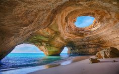 Sea caves in Algarve, Portugal   19 Caves That Are Almost Too Beautiful To Be Real