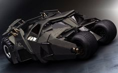 The Tumbler from the Dark Knight trilogy. This is my favourite Batman vehicle. It's the most real and practical of the vehicles. The others just seem to fantastical