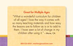 Re-pin if you are looking for a curriculum for multiple ages.  #MotherGooseTime