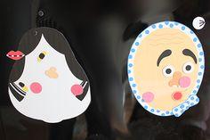 【親子工作】100均マグネットに出力するだけ!可愛い手作り福笑い - komoccoの暮らし