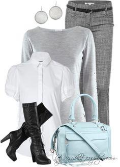 """Same name Rebecca: Earrings, Sweater, Bag"" by wishlist123 ❤ liked on Polyvore"
