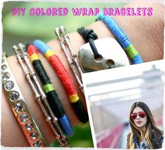 How to make cool, colorful wrap bracelets perfect for stacking this summer! #DIY