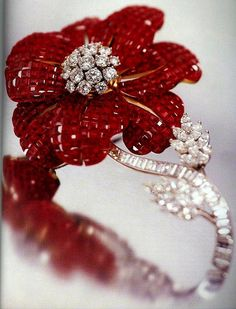 red rubies and diamonds