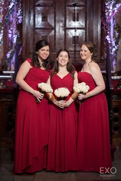 Pretty Burgundy Bridesmaid Dresses