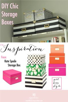 Merveilleux DIY Kate Spade Inspired Storage Boxes Flowers In My Hair