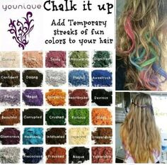 Younique Mineral Pigments as hair chalk! Washes right out. FunandFabulash.com