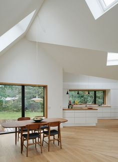 Dining Room And Kitchen View At Minimalist Home Design Ideas From Denmark